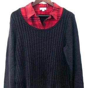 Style & Co Northern Lights Plaid Pullover Sweater